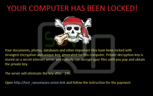 ransomware - text