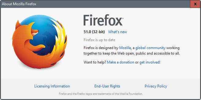 Firefox texto