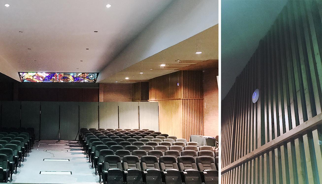 Auditorio del centro, uno de los puntos con mayor actividad concurrente.
